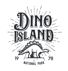 dinosaur island logo concept Stegosaurus vector image vector image