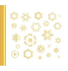 Ethnic vintage gold pattern vector image vector image