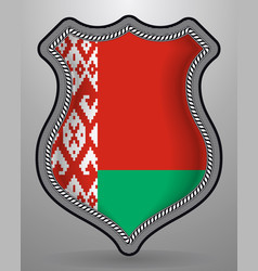 flag of belarus badge and icon vector image