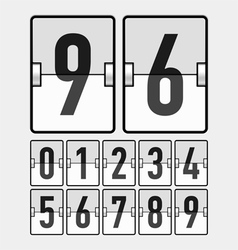 Mechanical timetable scoreboard display numbers vector image vector image
