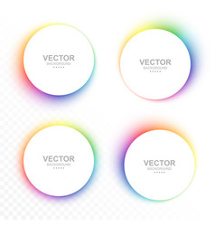 set of colorful blurry circle banners vector image vector image
