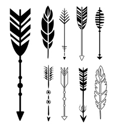 Set of Cute Hipster Arrows vector image