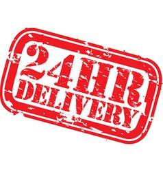 24hr delivery grunge stamp vector image vector image