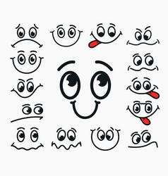 cartoon facial expression of joy of sadness vector image