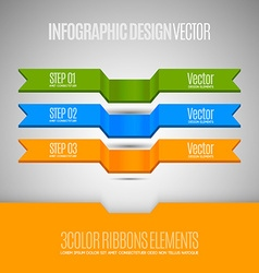 elements for business report Three banners as vector image vector image