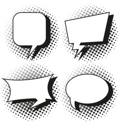 four designs of speech bubbles vector image