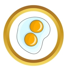 Fried eggs icon vector image