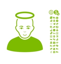 Holy man icon with free bonus vector