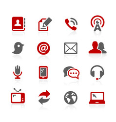 Telecommunications icons vector