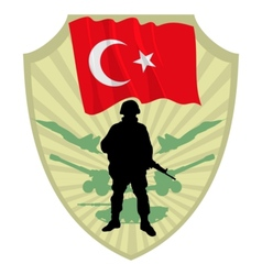 Army of Turkey vector image