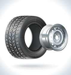 Car Tire Winter vector image vector image