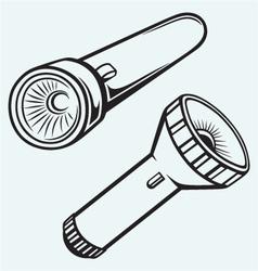 Electric pocket flashlight vector image vector image