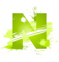 Letter N background vector image vector image