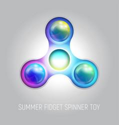 three blades fidget spinner toy vector image
