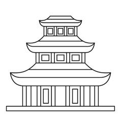 Buddhist temple icon outline style vector image