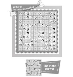 gather all the ladybugs black and white vector image
