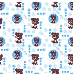 Seamless pattern with cute cartoon dog Baby vector image