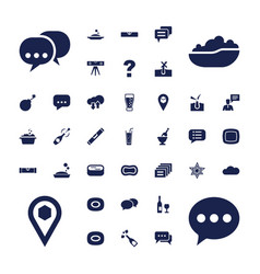 37 bubble icons vector