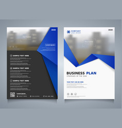 abstract business brochure of blue template vector image