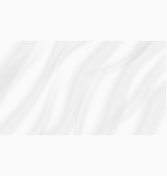 Abstract white background wavy silk fabric cloth vector