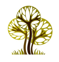 Art graphic of tree season concept can be vector