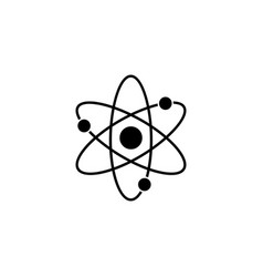 atom and molecule solid icon education and school vector image