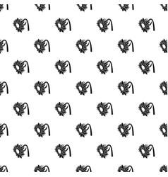 beautiful sunflower pattern seamless vector image