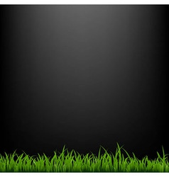 Black Background With Grass vector image