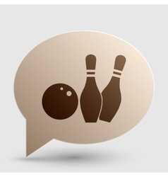 Bowling sign Brown gradient icon on vector image