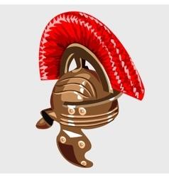 bronze helmet item knight armour vector image