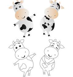Cartoon cute toy cow vector
