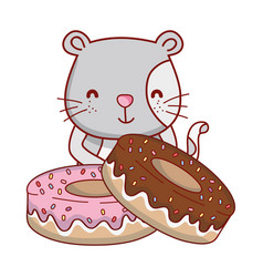 Cat and food vector