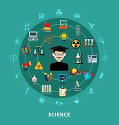 circular science diagram vector image