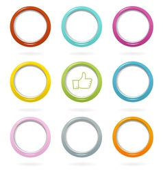 Colorful web bubbles set vector image