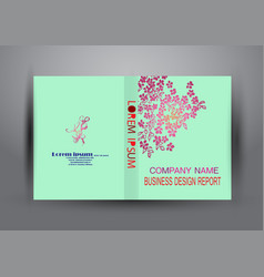 cover design template annual report cover flyer vector image