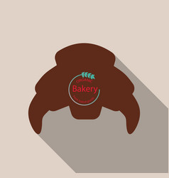 Croissant icon in flat style isolated on vector