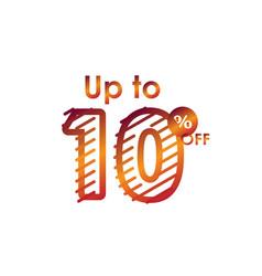 Discount up to 10 off label sale line gradient vector