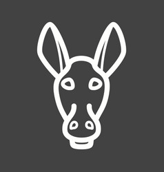 Donkey face vector