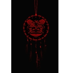 Dream Catcher with indigenous pattern vector image