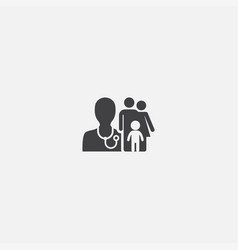 family doctor base icon simple sign vector image