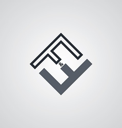 ff initial letter logotype company logo theme vector image