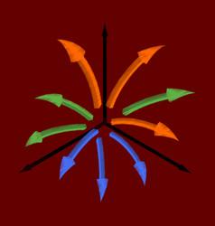 flat shading style icon arrow chart vector image