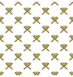 Folding table pattern cartoon style vector