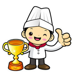 Funny cook character awarded in the contest vector