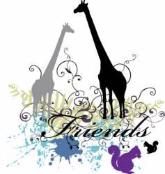 giraffe print vector image vector image