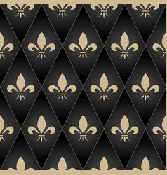 golden fleur-de-lis seamless pattern gold glitter vector image