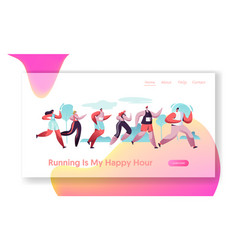 group characters running marathon distance in raw vector image