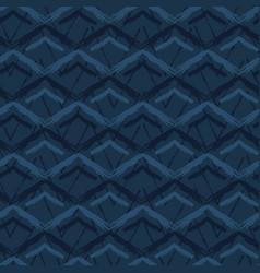 grunge chevron mountains seamless pattern vector image