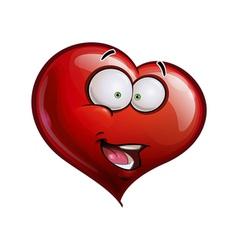 Heart Faces Happy Emoticons Hi vector image