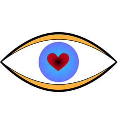 heart in the eye vector image